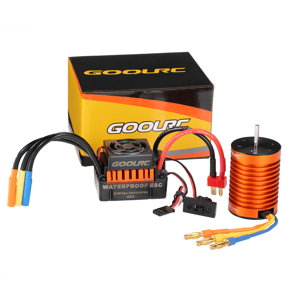 Waterproof F540 3300KV Brushless Motor with 45A ESC Combo set